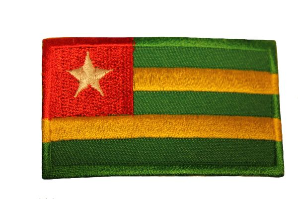 TOGO Country Flag Iron - On PATCH CREST BADGE