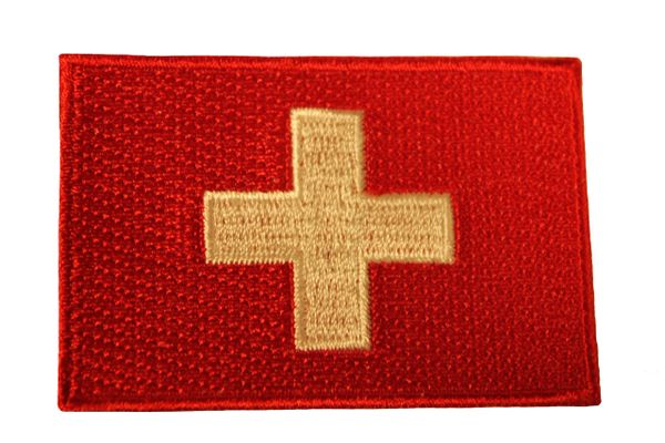 SWITZERLAND Country Flag Iron - On PATCH CREST BADGE
