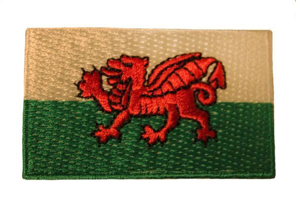 WALES Country Flag Iron - On PATCH CREST BADGE