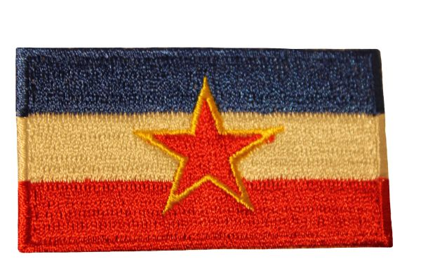YUGOSLAVIA Old Country Flag Iron - On PATCH CREST BADGE