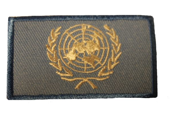 UNITED NATIONS Flag Iron - On PATCH CREST BADGE
