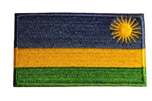 RWANDA Country Flag Iron - On PATCH CREST BADGE