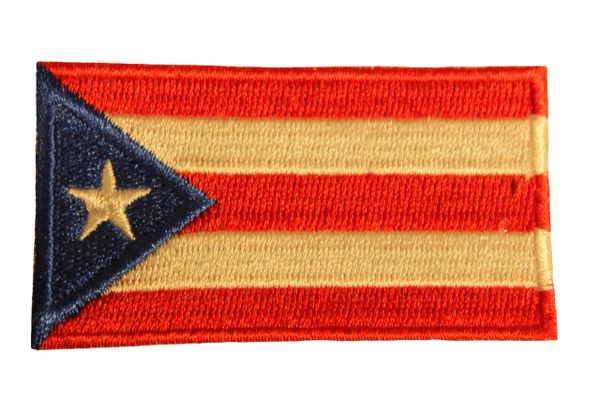 PUERTO RICO Country Flag Iron - On PATCH CREST BADGE