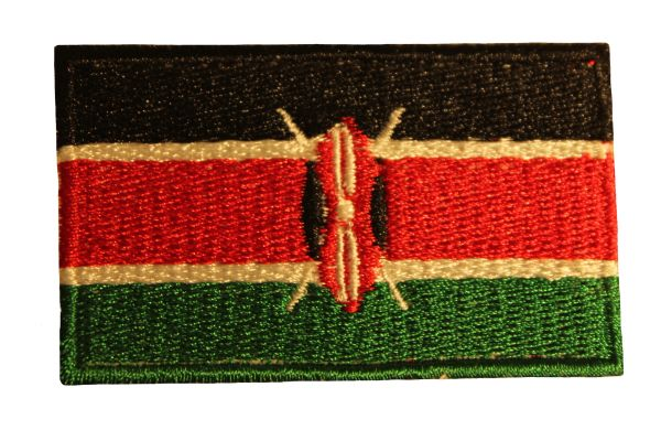 KENYA Country Flag Iron - On PATCH CREST BADGE
