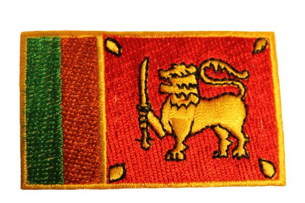 SRI LANKA Country Flag Iron - On PATCH CREST BADGE