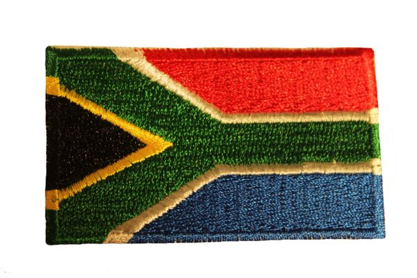 SOUTH AFRICA Country Flag Iron - On PATCH CREST BADGE