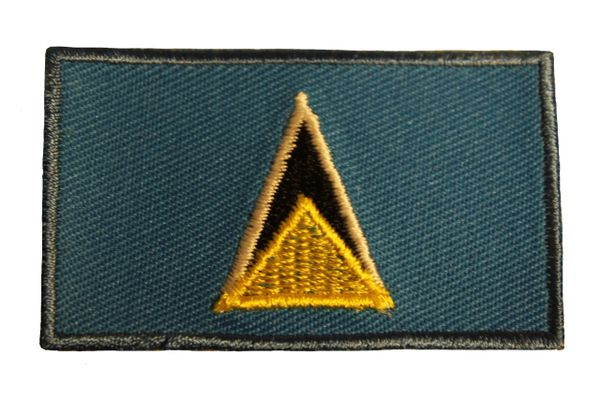 St. LUCIA Country Flag Iron - On PATCH CREST BADGE