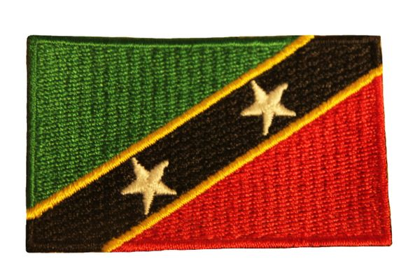 St. KITTS & NEVIS Country Flag Iron - On PATCH CREST BADGE