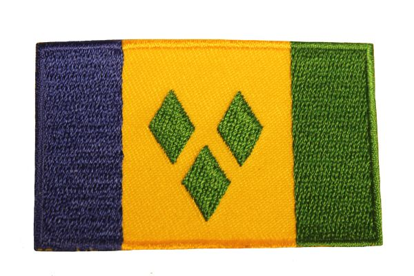 St. VINCENT & GRENADINES Country Flag Iron - On PATCH CREST BADGE