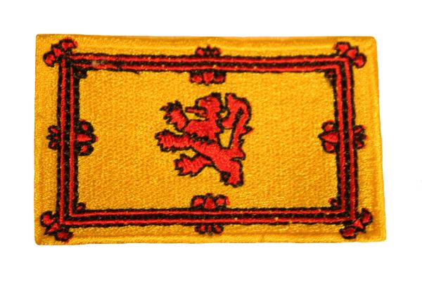 SCOTLAND LION RAMPANT NATIONAL COUNTRY FLAG IRON ON PATCH CREST BADGE .. 1.5 X 2.5 INCHES .. NEW