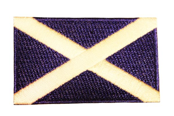 SCOTLAND ST ANDREWS CROSS NATIONAL COUNTRY FLAG IRON ON PATCH CREST BADGE .. 1.5 X 2.5 INCHES .. NEW