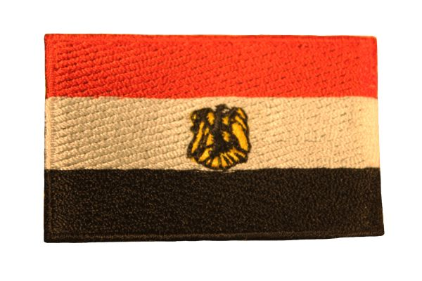 EGYPT Country Flag Iron - On PATCH CREST BADGE