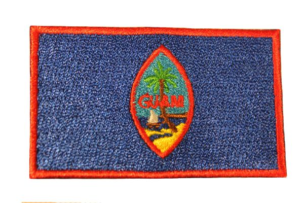 GUAM Country Flag Iron - On PATCH CREST BADGE