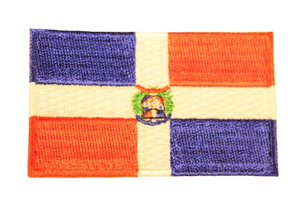 DOMINICAN REPUBLIC Country Flag Iron - On PATCH CREST BADGE