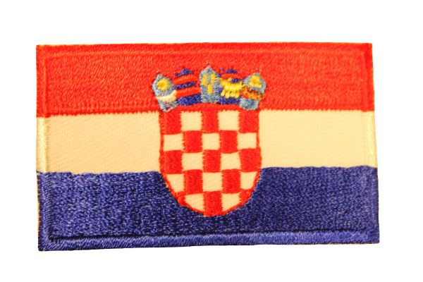 CROATIA Country Flag Iron - On PATCH CREST BADGE