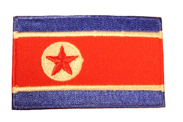 NORTH KOREA Country Flag Iron - On PATCH CREST BADGE