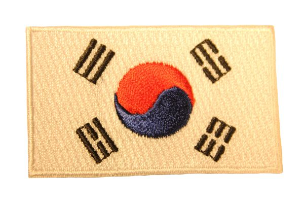 KOREA SOUTH Country Flag Iron - On PATCH CREST BADGE