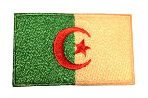 ALGERIA Country Flag Iron - On PATCH CREST BADGE
