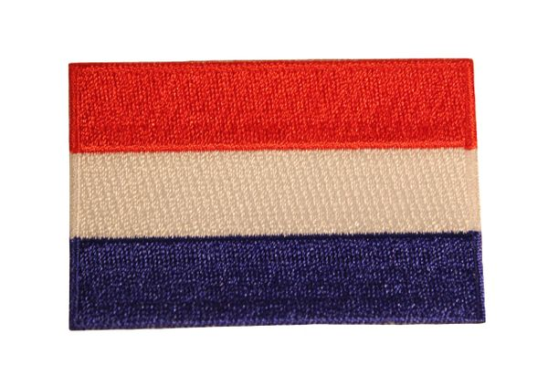NETHERLANDS HOLLAND NATIONAL COUNTRY FLAG IRON ON PATCH CREST BADGE .. 1.5 X 2.5 INCHES .. NEW