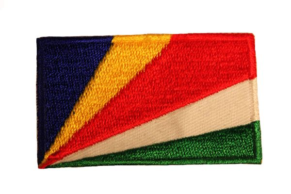 SEYCHELLES NATIONAL COUNTRY FLAG IRON ON PATCH CREST BADGE