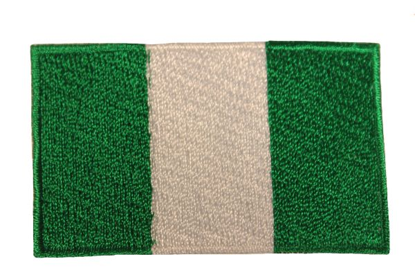 NIGERIA NATIONAL COUNTRY FLAG IRON ON PATCH CREST BADGE .. 1.5 X 2.5 INCHES .. NEW