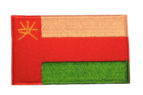 OMAN NATIONAL COUNTRY FLAG IRON ON PATCH CREST BADGE .. 1.5 X 2.5 INCHES .. NEW