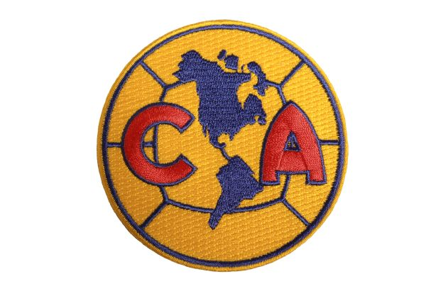 """CLUB AMERICA - Soccer Logo 3"""" Inch Round Embroidered Iron - On PATCH CREST BADGE"""