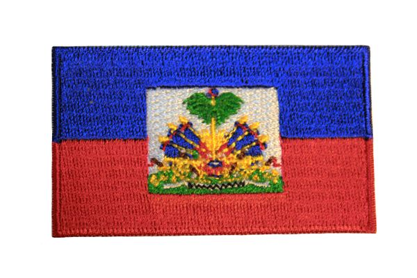 """HAITI COUNTRY FLAG Small 1.5"""" X 2.5"""" Inch PATCH CREST BADGE"""