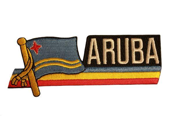 ARUBA SIDEKICK WORD COUNTRY FLAG IRON ON PATCH CREST BADGE