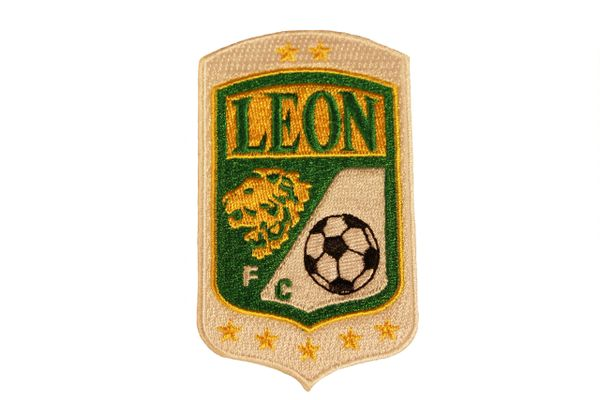 "LEON Football Club ( Mexico ) Embroidered Iron - On PATCH CREST BADGE ..Size : 2"" x 3.5"" Inch."