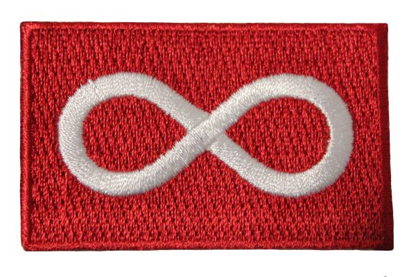 """METIS RED Native Flag Embroidered Iron - On PATCH CREST BADGE ..Size : 1.5"""" x 2.5"""" Inch"""