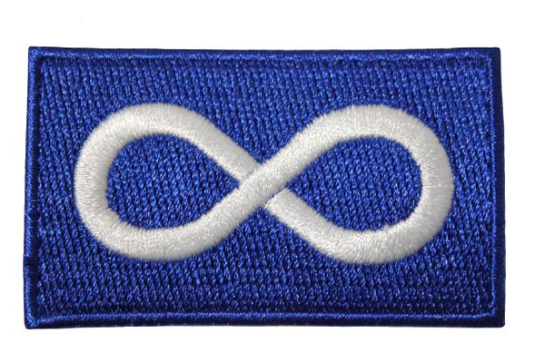 """METIS BLUE Native Flag Embroidered Iron - On PATCH CREST BADGE ..Size : 1.5"""" x 2.5"""" Inch"""