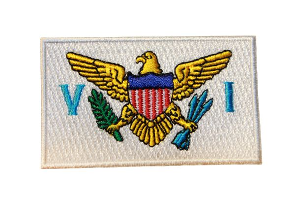 UNITED STATES VIRGINIA ISLANDS Country Flag Iron - On PATCH CREST BADGE