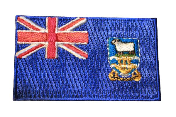 FALKLANDS ISLANDS Country Flag Iron - On PATCH CREST BADGE
