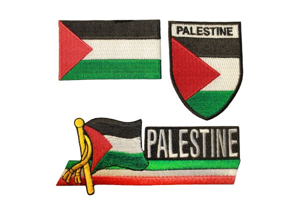 "PALESTINE Country Flag Set Of 3 : Iron - On PATCH CREST BADGES .. Size : 1.5"" x 2.5"" , 2"" X 2.5"" , 1.5"" x 4.5"" Inch"