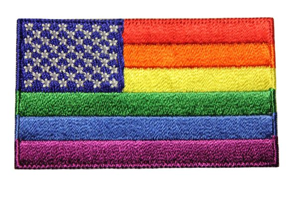 USA LGBTQ Gay & Lesbian Rainbow Pride Embroidered Iron - On PATCH CREST BADGE
