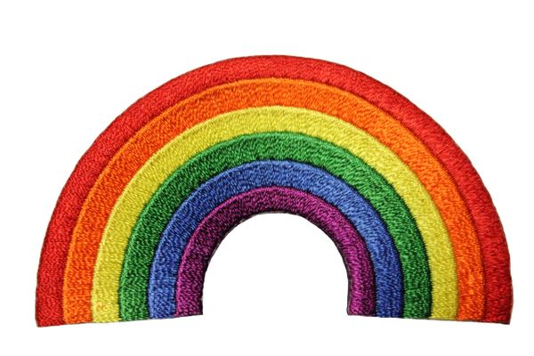 RAINBOW Shape LGBTQ Gay & Lesbian Pride Embroidered Iron - On PATCH CREST BADGE