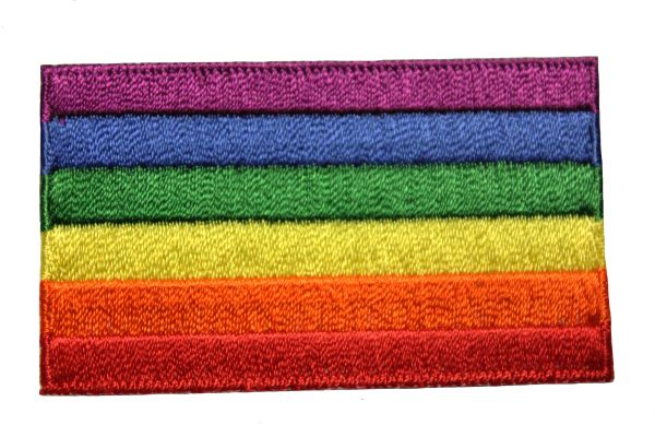 LGBTQ Gay & Lesbian Rainbow Pride Flag Embroidered Iron - On PATCH CREST BADGE
