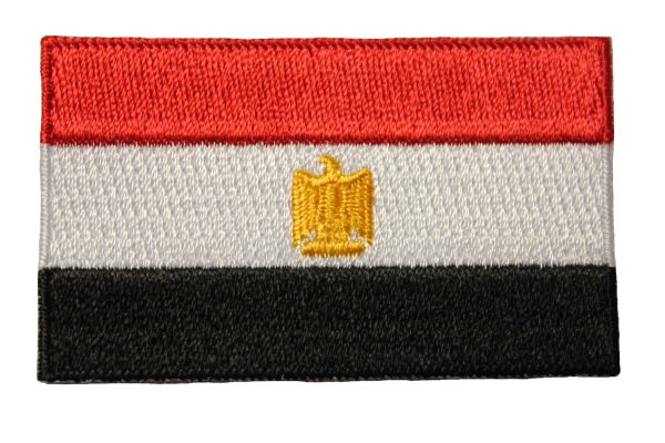 """EGYPT Country Flag Iron - On PATCH CREST BADGE..Size : 1.5"""" x 2.5"""" Inch..New"""