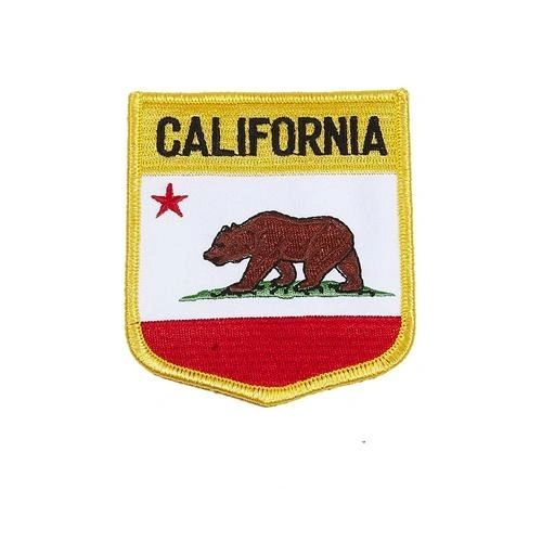 "CALIFORNIA USA STATE SHIELD FLAG IRON ON PATCH CREST BADGE .. SIZE : 3.5"" X 3"" INCHES .. NEW"