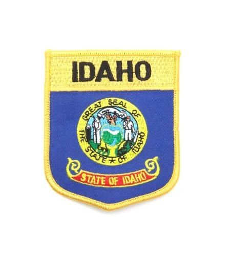 "IDAHO USA STATE SHIELD FLAG IRON ON PATCH CREST BADGE .. SIZE : 3.5"" X 3"" INCHES .. NEW"