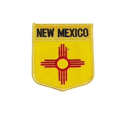 "NEW MEXICO USA STATE SHIELD FLAG IRON ON PATCH CREST BADGE .. SIZE : 3.5"" X 3"" INCHES .. NEW"