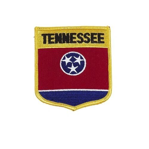 "TENNESSEE USA STATE SHIELD FLAG IRON ON PATCH CREST BADGE .. SIZE : 3.5"" X 3"" INCHES .. NEW"