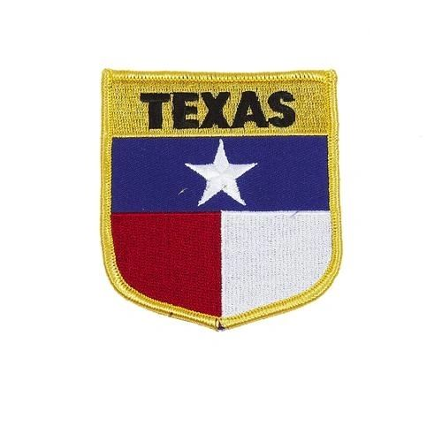 "TEXAS USA STATE SHIELD FLAG IRON ON PATCH CREST BADGE .. SIZE : 3.5"" X 3"" INCHES .. NEW"