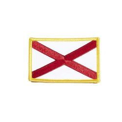 """ALABAMA USA STATE SQUARE FLAG IRON ON PATCH CREST BADGE .. SIZE : 2.3"""" X 3.25"""" INCHES .. NEW"""
