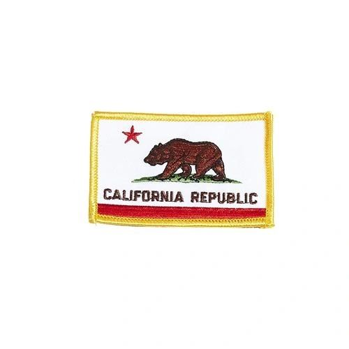 "CALIFORNIA REPUBLIC USA STATE SQUARE FLAG IRON ON PATCH CREST BADGE .. SIZE : 2.3"" X 3.25"" INCHES .. NEW"