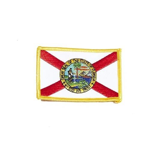 "FLORIDA USA STATE SQUARE FLAG IRON ON PATCH CREST BADGE .. SIZE : 2.3"" X 3.25"" INCHES .. NEW"