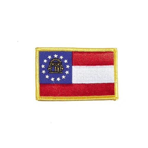 "GEORGIA USA STATE SQUARE FLAG IRON ON PATCH CREST BADGE .. SIZE : 2.3"" X 3.25"" INCHES .. NEW"