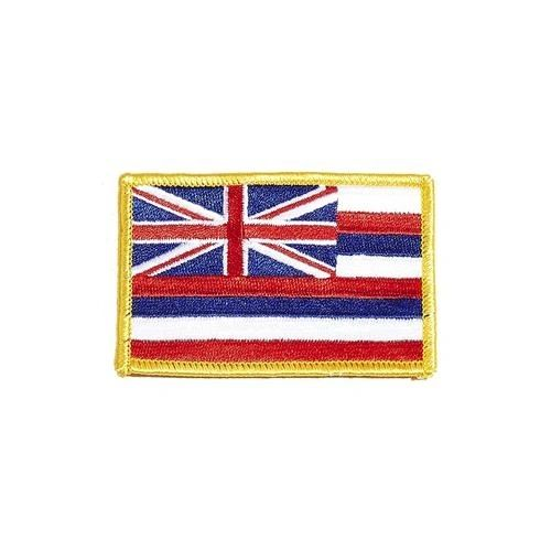 """HAWAII USA STATE SQUARE FLAG IRON ON PATCH CREST BADGE .. SIZE : 2.3"""" X 3.25"""" INCHES .. NEW"""
