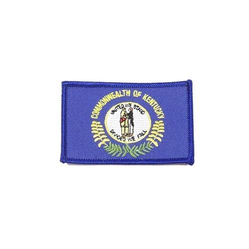 "KENTUCKY USA STATE SQUARE FLAG IRON ON PATCH CREST BADGE .. SIZE : 2.3"" X 3.25"" INCHES .. NEW"